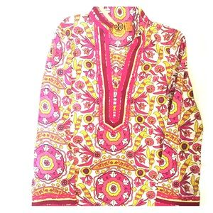 Tory Burch Floral Tunic. Size 2